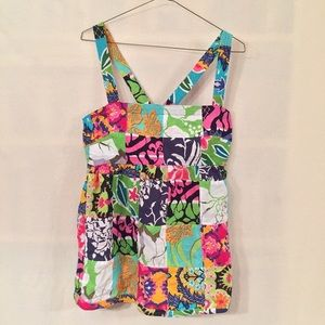 J. CREW Talitha Patchwork Cotton Tank 2NWT, used for sale